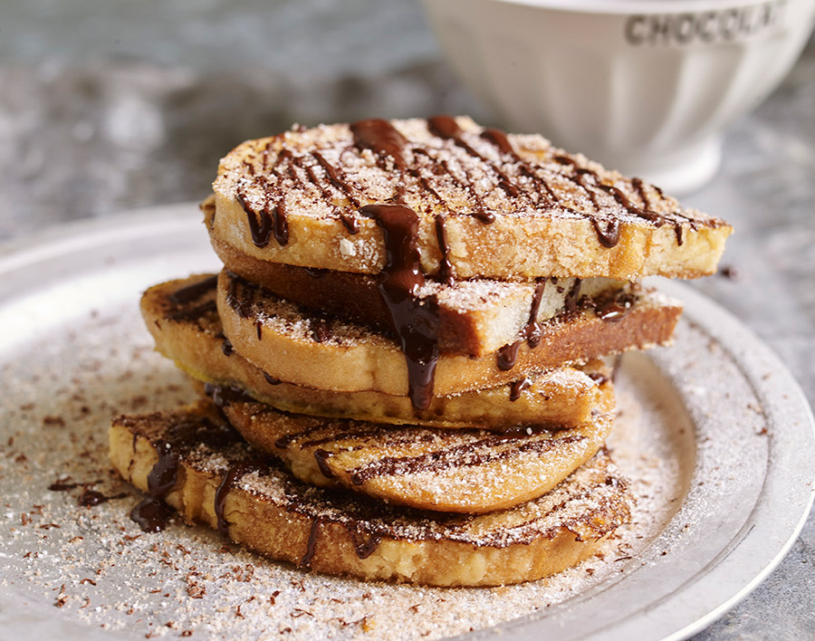 Chocolate and cinnamon French toast (yeast free sourdough)